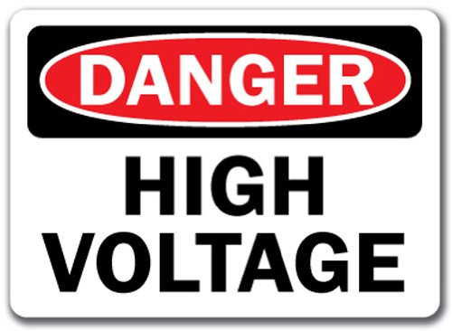 Danger - High Voltage - Plastic - 10'' X 14''