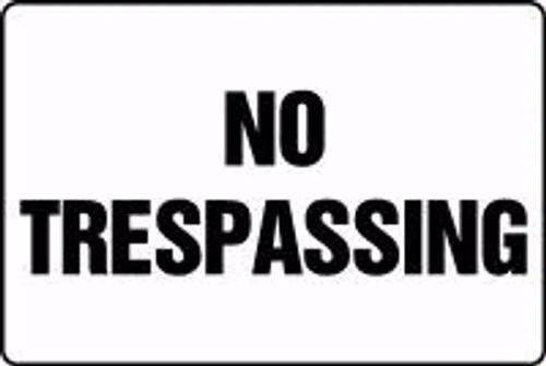 No Trespassing Sign 1