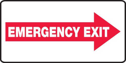 Emergency Exit Right Arrow