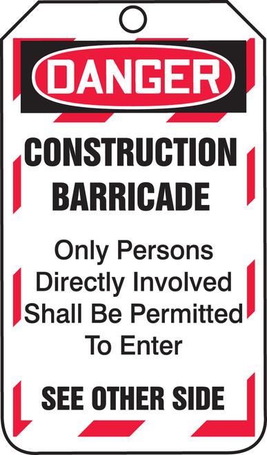 Construction Barricade Status Tag