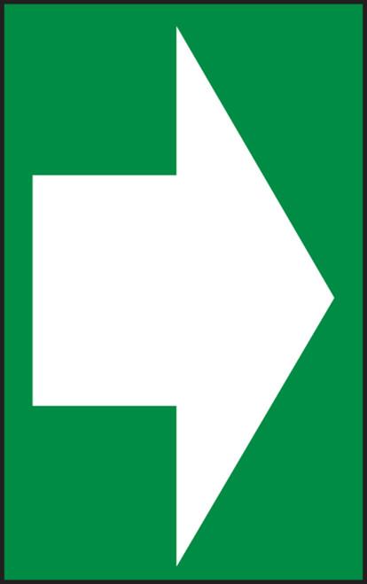 Arrow (White Arrow On Green) - Dura-Plastic - 7'' X 5''