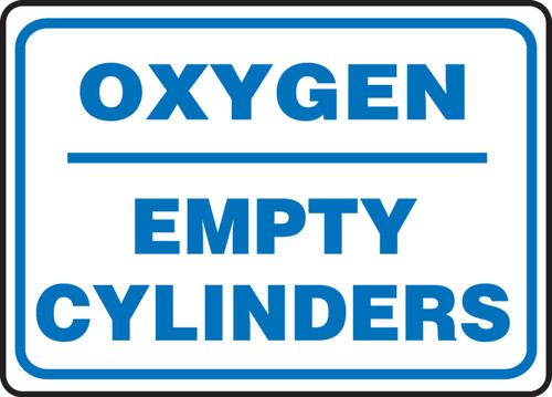 Oxygen Empty Cylinders - Plastic - 10'' X 14''