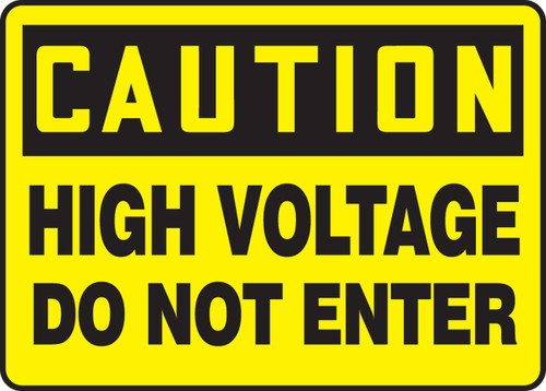 Caution - High Voltage Do Not Enter