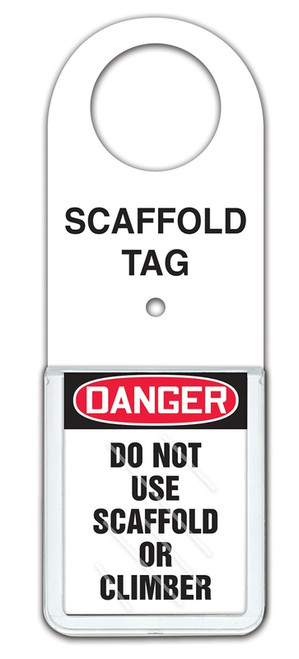 Scaffold Tag Status Holder - Danger Do Not Use Scaffold Or Climber
