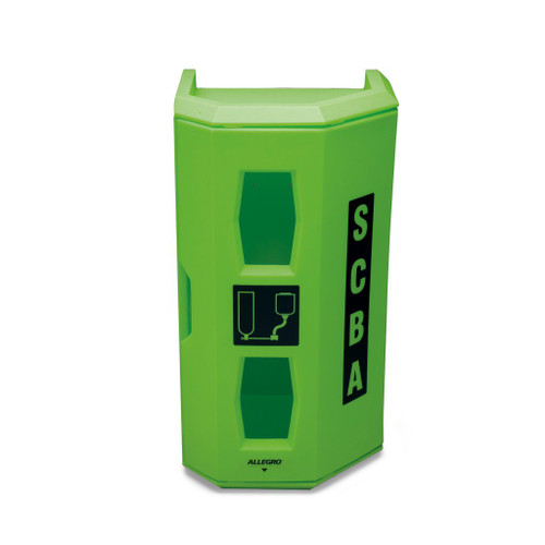 Allegro 4150 High Viz Heavy Duty Single SCBA Wall Case, Green