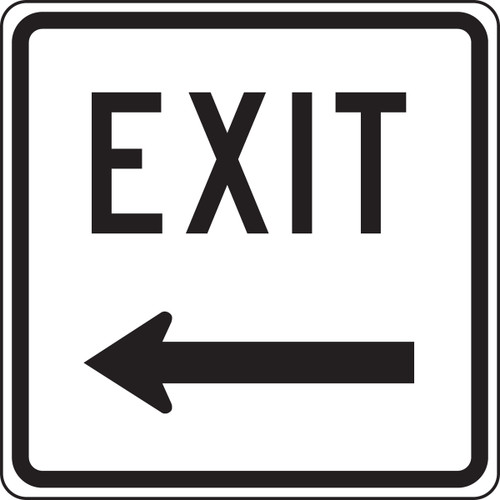 Exit Sign Left Arrow