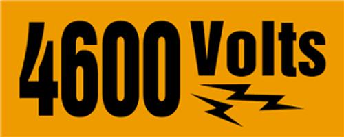 4600 Volts Sign
