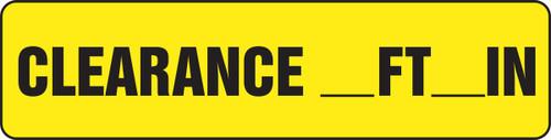 Clearance __ Ft __ In - Accu-Shield - 6'' X 24''