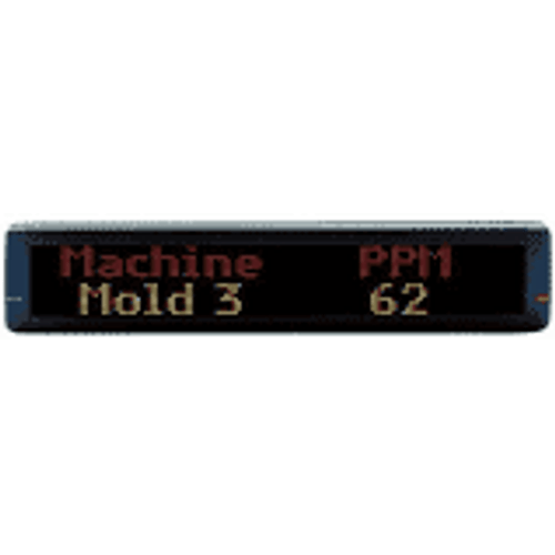 """Electronic Moving Message Display- 2 Line Format 36"""""""