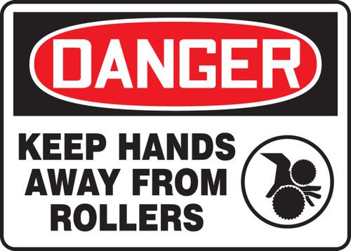 Danger - Keep Hands Away From Rollers