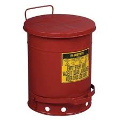 Oily Waste Can- 10 Gallon w/ Foot Operated Cover