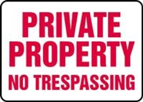 Private Property No Trespassing Sign 1