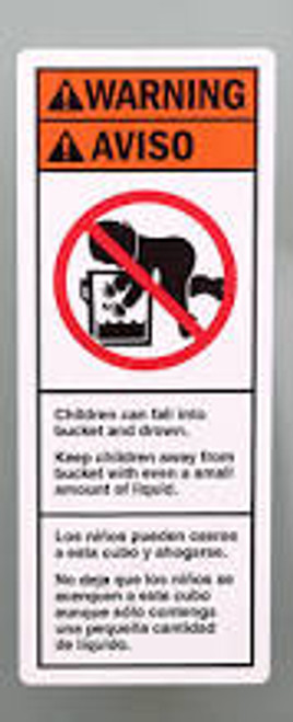 Children Can Fall Into Bucket And Drown. Keep Children Away From Bucket