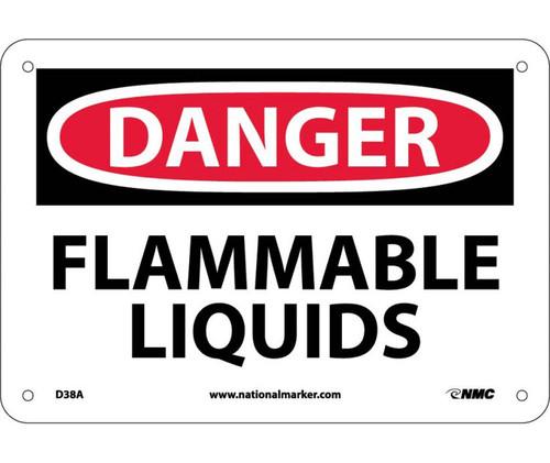 Danger - Flammable Liquids - .040 Aluminum - 10'' X 14''