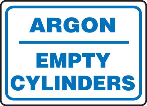 Argon Empty Cylinders - Adhesive Dura-Vinyl - 10'' X 14''