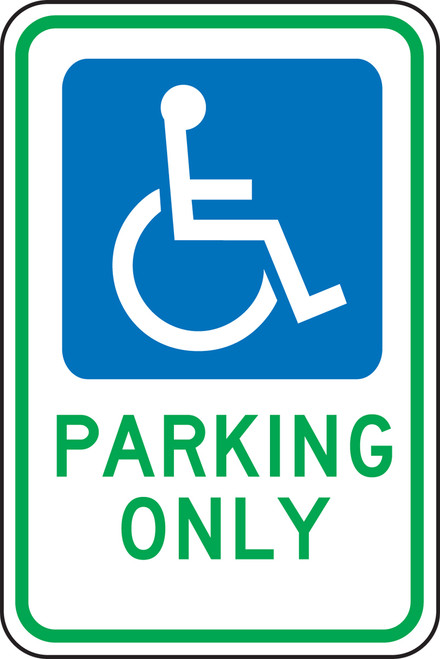 Ohio Handicap Parking Only Sign