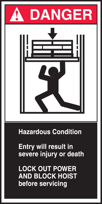 Hazardous Condition Entry Will Result In Severe Injury