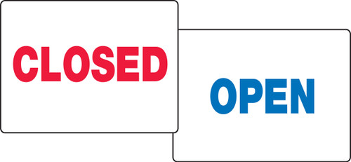 Closed / Open Quick Sign Fold Ups Insert