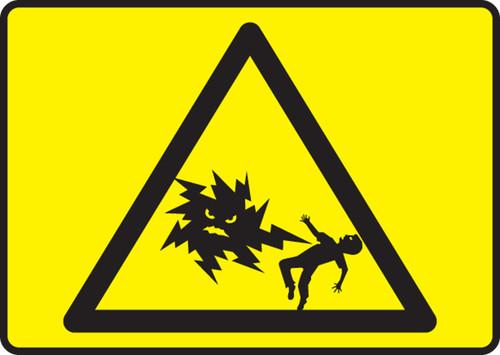 High Voltage Symbol  (Mr Ouch Symbol) - Accu-Shield - 7'' X 10''