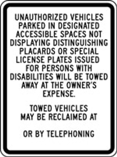 California Unauthorized Vehicles Parked In Designated Accessible Spaces Not Displaying