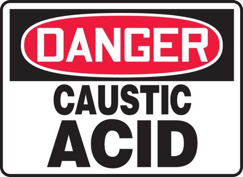 Danger - Caustic Acid