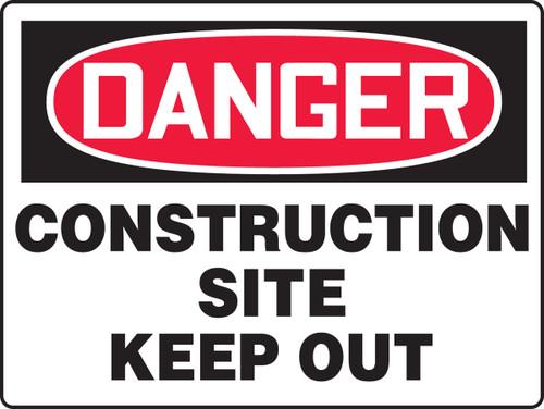 Danger - Construction Site Keep Out - Re-Plastic - 18'' X 24''