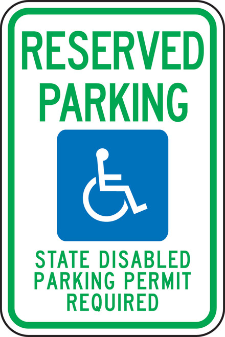 Washington Handicap  Reserved Parking State Disabled Parking Permit