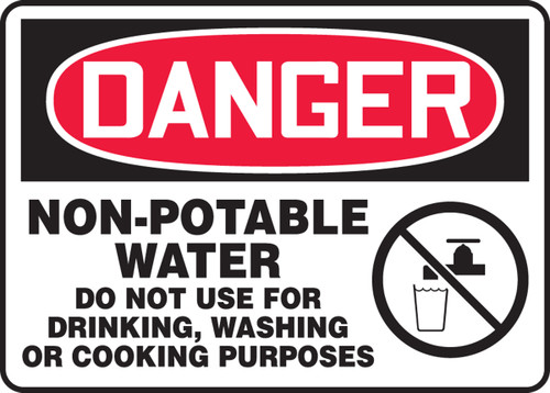 Danger - Non-Potable Water Do Not Use For Drinking, Washing Or Cooking