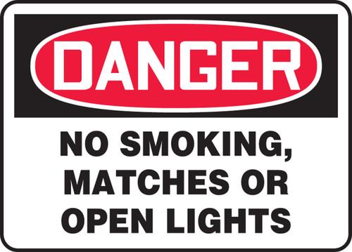 Danger No Smoking, Matches Or Open Lights