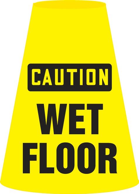 Caution Wet Floor- Cone Cuff Sleeve