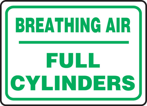 Breathing Air Full Cylinders - Plastic - 10'' X 14''