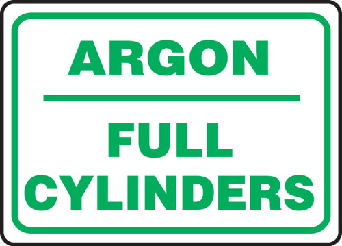 Argon Full Cylinders - Dura-Plastic - 10'' X 14''
