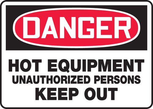 Danger - Hot Equipment Unauthorized Persons Keep Out