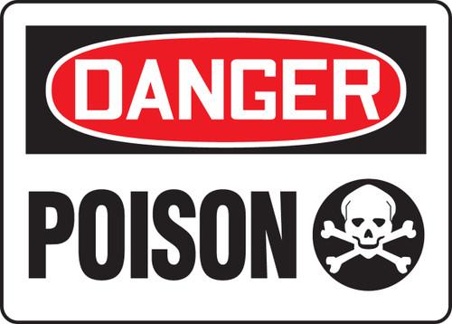 Danger - Poison (W/Graphic) - Adhesive Dura-Vinyl - 7'' X 10''