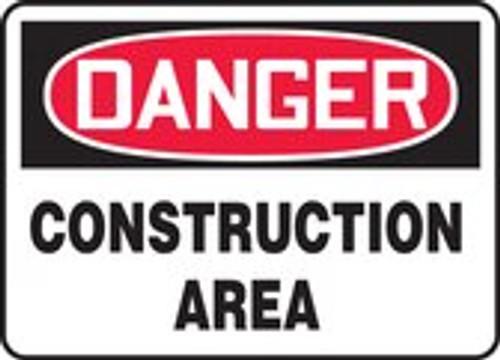 Danger - Construction Area - Aluma-Lite - 7'' X 10''