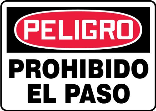 danger no trespassing sign MADM292VS