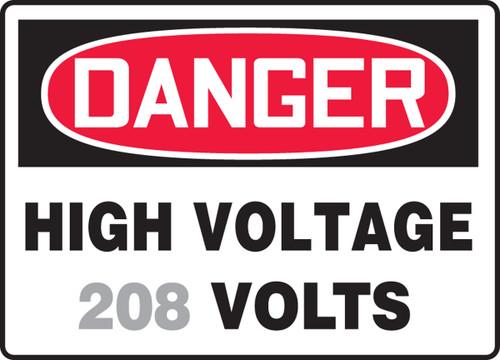 Danger - High Voltage ___ Volts 1