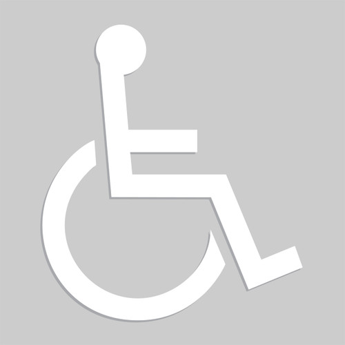 Wheelchair Floor Stencil- Pictorial