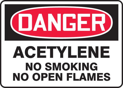 Danger - Acetylene No Smoking No Open Flames