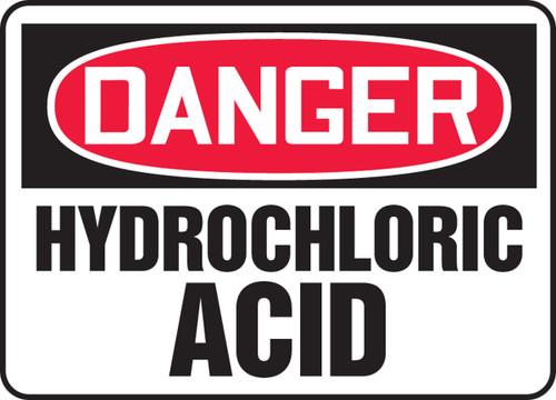 Danger - Hydrochloric Acid - .040 Aluminum - 10'' X 14''