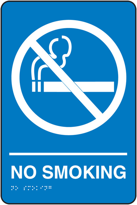 No Smoking- ADA Braille Tactile Sign