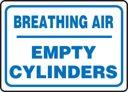 Breathing Air Empty Cylinders - Adhesive Dura-Vinyl - 10'' X 14''