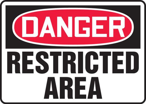Danger - Restricted Area - .040 Aluminum - 14'' X 20''