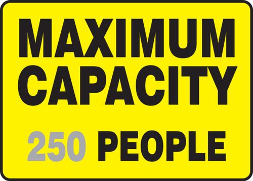 Maximum Capacity ___ People 1