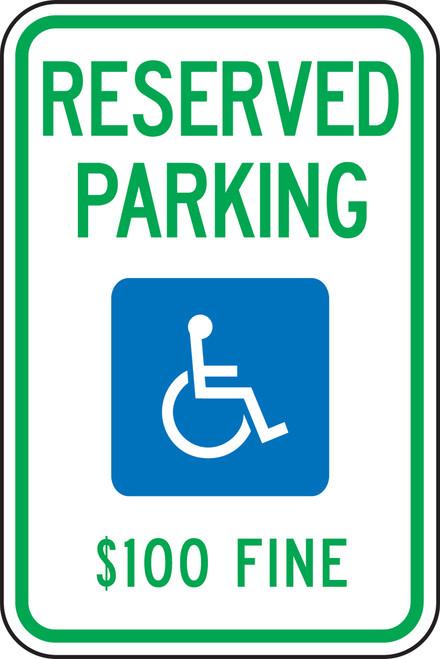 West Virginia Handicap Reserved Parking $100 Fine
