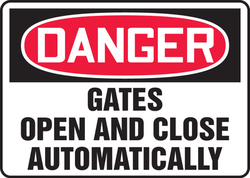 Danger - Gates Open And Close Automatically