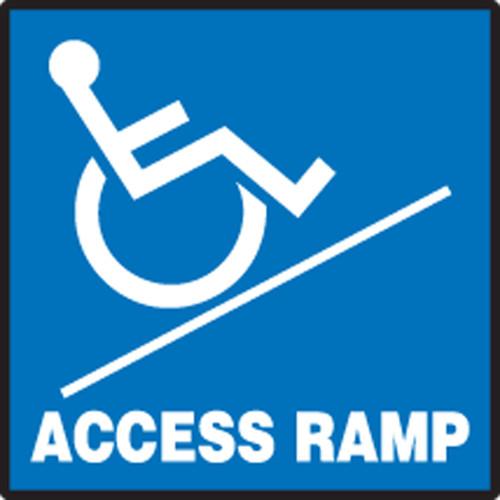Access Ramp (W/Graphic) - .040 Aluminum - 7'' X 7''