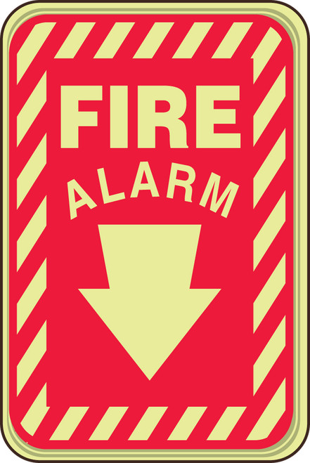 Fire Alarm Sign- glow sign