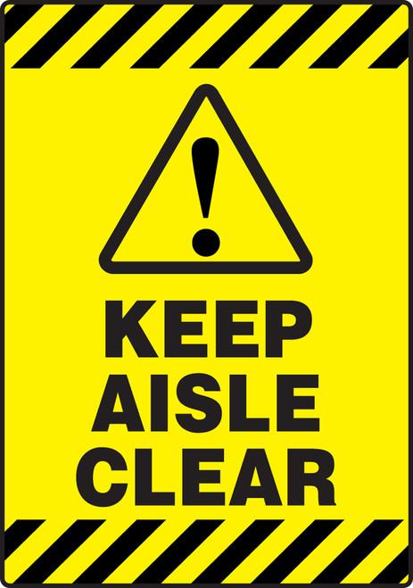 Keep Aisle Clear Slip Gard Floor Sign