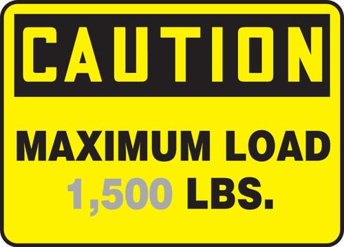 Caution - Maximum Load ___ Lbs.